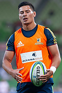 MELBOURNE, VIC - MARCH 01: Patelesio Tomkinson (22) of the Highlanders looks on during warm up at The Super Rugby match between Melbourne Rebels and Highlanders on March 01, 2019 at AAMI Park, VIC. (Photo by Speed Media/Icon Sportswire)