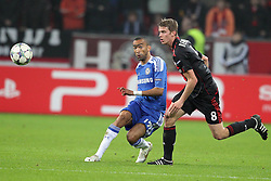 23.11.2011, BayArena, Leverkusen, Germany, UEFA CL, Gruppe E, Bayer 04 Leverkusen (GER) vs Chelsea FC (ENG), im Bild Jose Bosingwa (Chelsea #17) gegen Lars Bender (Leverkusen #8) // during the football match of UEFA Champions league, group E, between Bayer Leverkusen (GER) and FC Chelsea (ENG) at BayArena, Leverkusen, Germany on 2011/11/23.EXPA Pictures © 2011, PhotoCredit: EXPA/ nph/ Mueller..***** ATTENTION - OUT OF GER, CRO *****
