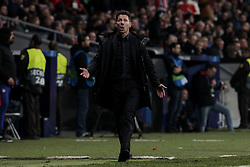 February 20, 2019 - Madrid, Madrid, Spain - Atletico de Madrid's coach Diego Pablo Simeone during UEFA Champions League match, Round of 16, 1st leg between Atletico de Madrid and Juventus at Wanda Metropolitano Stadium in Madrid, Spain. February 20, 2019. (Credit Image: © A. Ware/NurPhoto via ZUMA Press)