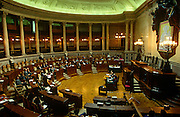 The Portuguese parliament in session from inside the Palacio de Sao Bento in Estrela District, Lisbon.