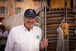 Saint Tropez October 2018 during the Voile de Saint Tropez. Peter Erzberger Comodore of the Gstaad Yacht Club photographed by Jürg Kaufmann