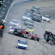 NASCAR 2011 - MAY 14 - NASCAR Nationwide Final Lap Wreck - Dover - Edwards Wins Nationwide
