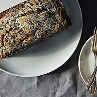 Black Sesame Loaf Cake with Banana