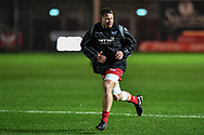 Scarlets' James Davies during the pre match warm up - Mandatory by-line: Craig Thomas/Replay images - 26/12/2017 - RUGBY - Parc y Scarlets - Llanelli, Wales - Scarlets v Ospreys - Guinness Pro 14