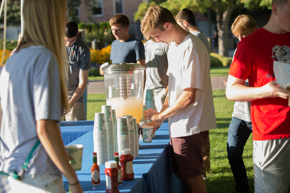 The annual Welcome Back Barbecue was hosted by Sodexo on Herak Quad on Aug. 30, 2016. Photo by Libby Kamrowski