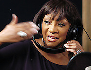 "PHILADELPHIA - MARCH 17: Patti Labelle warms up at The Studio before laying tracks for ""We Are Family"" for Rodney Jerkins forthcoming Hurricane Katrina benefit CD March 17, 2006 in Philadelphia, Pennsylvania. The CD is geared to help provide immediate relief to the more than 200,000 displaced families in the gulf region, in conjunction with the Points of Light Foundation. (Photo by William Thomas Cain/Getty Images)"