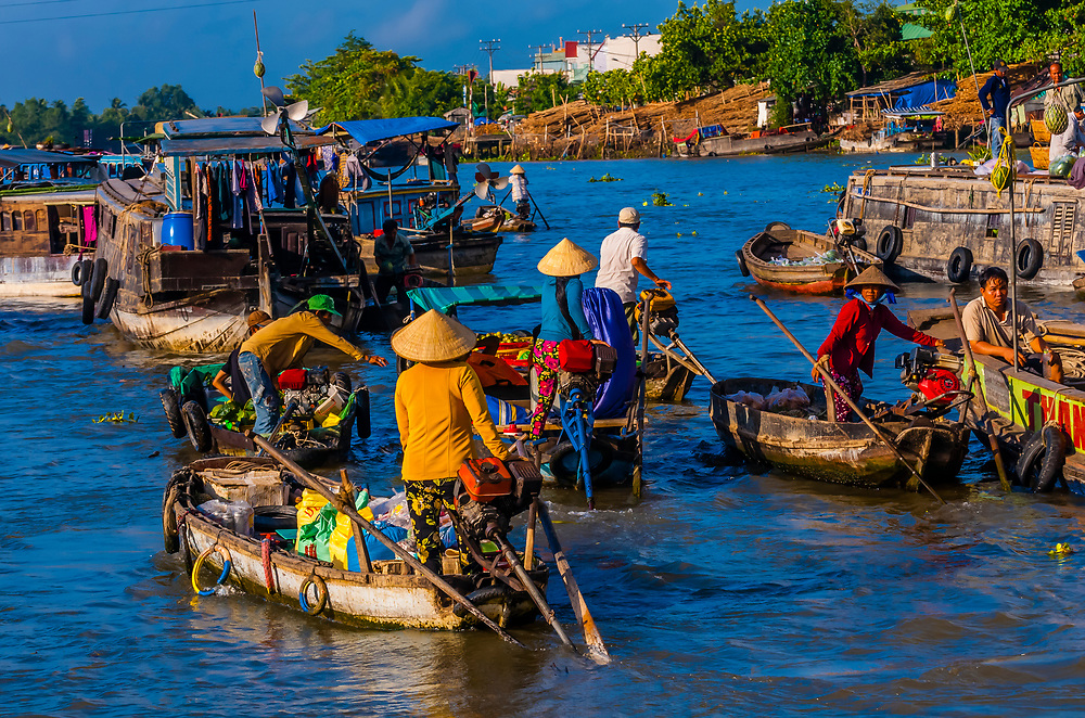 Cai Rang Floating Market, Mekong Delta, southern Vietnam.