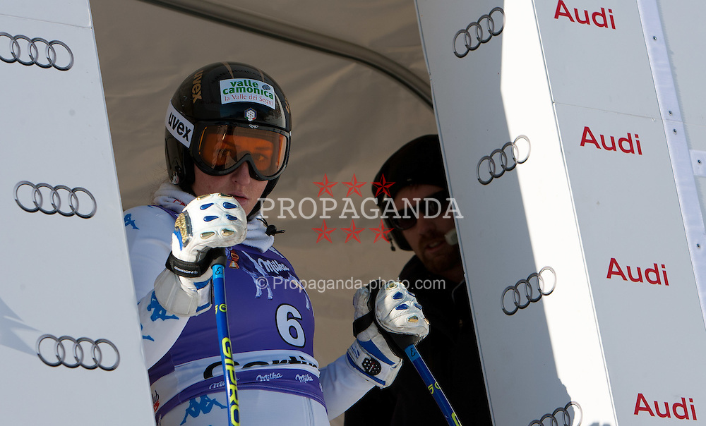 12.01.2012, Pista Olympia delle Tofane, Cortina, ITA, FIS Weltcup Ski Alpin, Damen, Abfahrt, 1. Training, im Bild Elena Fanchini (ITA) // Elena Fanchini of Italy during ladies downhill 1st training of FIS Ski Alpine World Cup at 'Pista Olympia delle Tofane' course in Cortina, Italy on 2012/01/12. EXPA Pictures © 2012, PhotoCredit: EXPA/ Johann Groder