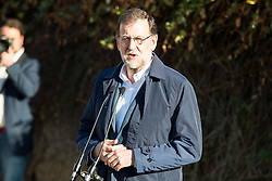 20.12.2015, Madrid, ESP, Parlamentswahlen in Spanien, im Bild Mariano Rajoy // the Prime Minister and candidate of the Partido Popular, Mariano Rajoy goes to the polls to vote Madrid, Spain on 2015/12/20. EXPA Pictures © 2015, PhotoCredit: EXPA/ Alterphotos/ BorjaB.hojas<br /> <br /> *****ATTENTION - OUT of ESP, SUI*****