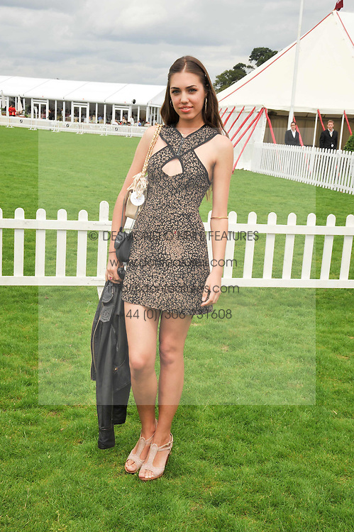AMBER LE BON at the 25th annual Cartier International Polo held at Guards Polo Club, Great Windsor Park, Berkshire on 26th July 2009.