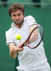 WIMBLEDON - UK - 27th June 2016: The Wimbledon Tennis Championships start at the All England Lawn Tennis Club, Wimbledon. S.E. London.<br /> <br /> Pic shows.;  Gilles Simon (France )<br /> Photo by Ian Jones