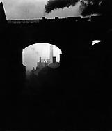 Train leaving Newcastle 1937
