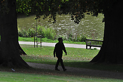 © Licensed to London News Pictures. 10/09/2018<br /> TunbridgeWells, UK.<br /> Sunny South East weather today at Dunorlan Park in Royal Tunbridge Wells<br /> Photo credit: Grant Falvey/LNP