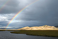 Rainbow over Flat Creek on National Elk Refuge