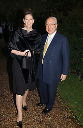 MR & MRS URS SCHWARZENBACH he is the multi millionaire polo patron at the annual Chelsea Flower Show dinner hosted by jewellers Cartier at the Chelsea Pysic Garden, London on 22nd May 2006.<br /><br />NON EXCLUSIVE - WORLD RIGHTS