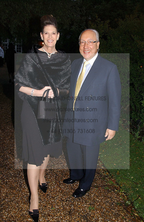 MR &amp; MRS URS SCHWARZENBACH he is the multi millionaire polo patron at the annual Chelsea Flower Show dinner hosted by jewellers Cartier at the Chelsea Pysic Garden, London on 22nd May 2006.<br /><br />NON EXCLUSIVE - WORLD RIGHTS