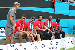 July 22, 2018 - Charlotte, NC, U.S. - CHARLOTTE, NC - JULY 22: Liverpool players during the International Champions Cup match between Liverpool FC and Borussia Dortmund on July 22, 2018 at Bank of America Stadium in Charlotte, NC.(Photo by Jaylynn Nash/Icon Sportswire) (Credit Image: © Jaylynn Nash/Icon SMI via ZUMA Press)