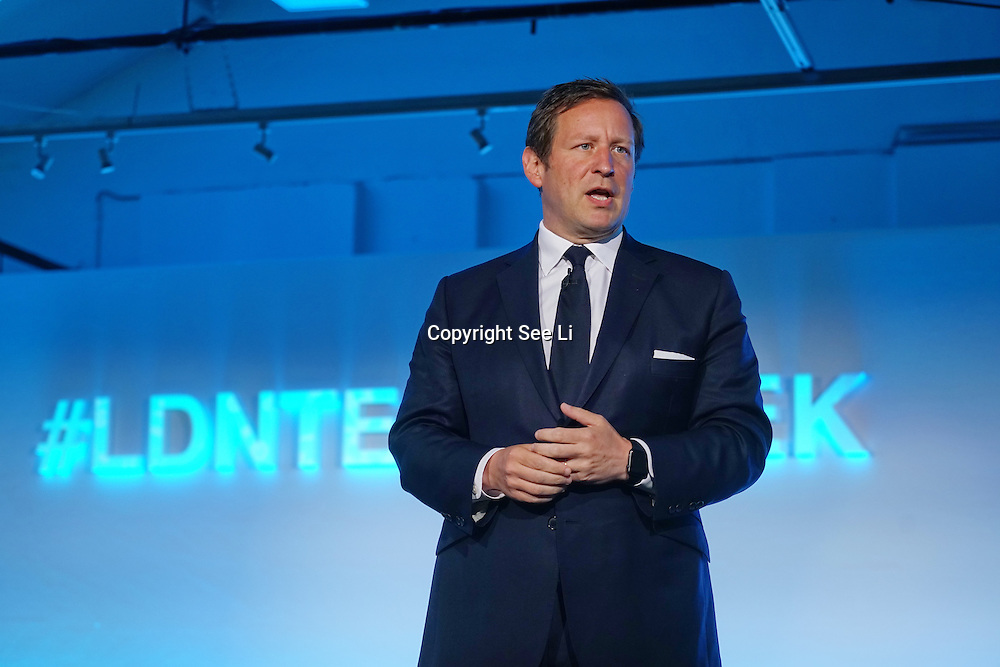 London,England,UK : 20 th June 2016 :  Speaker Edward Henry Butler Vaizey is a Minister of State for Culture at the London Technology Week 2016 opening press day at The Yard,Worship Street, London. Photo by See Li