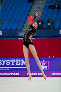 Nikolchenko Vlada during Qualification of the ball at World Cup Pesaro 2018.<br />