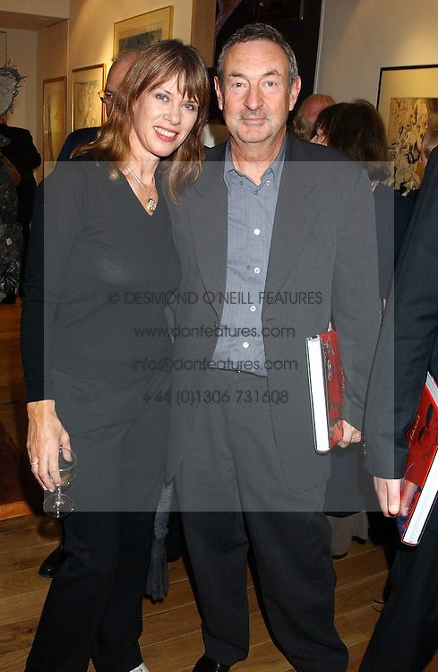 NICK &amp; NETTE MASON at a party to celebrate the publication of Drawing Blood -Forty-Five Years of Scarfe Uncensored, a book of Gerald Scarfe's work held at The Fine Arts Society, New Bond Street, London on 3rd November 2005.<br /><br />NON EXCLUSIVE - WORLD RIGHTS
