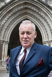 © Licensed to London News Pictures. 23/05/2017. London, UK. Michael Barrymore is seen at the High Court for the second day of his legal action. Barrymore is seeking damages after being arrested by Essex police in 2007 after a death at the entertainers house in 2001. Photo credit: Peter Macdiarmid/LNP