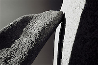 Stones close up black and white