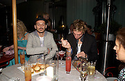 Matthew Williamson and James Cook. An evening in aid of cancer charity Clic Sargent held at the Sanderson Hotel, Berners Street, London on 4th July 2005ONE TIME USE ONLY - DO NOT ARCHIVE  © Copyright Photograph by Dafydd Jones 66 Stockwell Park Rd. London SW9 0DA Tel 020 7733 0108 www.dafjones.com