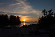Sunset, Sitka Bay, Talon Lodge, Sitka, Alaska