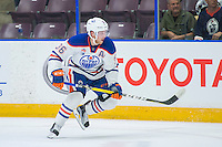 PENTICTON, CANADA - SEPTEMBER 16: Drake Caggiula #36 of Edmonton Oilers skates against the Vancouver Canucks on September 16, 2016 at the South Okanagan Event Centre in Penticton, British Columbia, Canada.  (Photo by Marissa Baecker/Shoot the Breeze)  *** Local Caption *** Drake Caggiula;