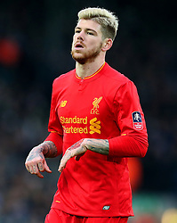 Alberto Moreno of Liverpool - Mandatory by-line: Matt McNulty/JMP - 08/01/2017 - FOOTBALL - Anfield - Liverpool,  - Liverpool v Plymouth Argyle - Emirates FA Cup third round