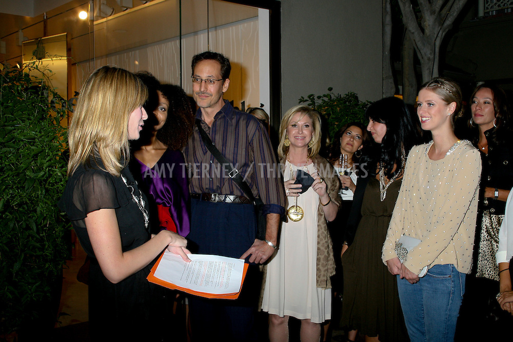 Step Up women's network Managing Director Angie Grabski, Philip Christoff, Kathy Hilton, Chloe store manager Sherrie Hendizadeh, and Nicky Hilton