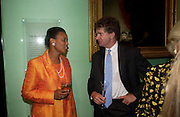 Baroness Scotland and  Tony's Blair's chief of staff Jonathan Powell.  Celebration of Lord Weidenfeld's 60 Years in Publishing hosted by Orion. the Weldon Galleries. National Portrait Gallery. London. 29 June 2005. ONE TIME USE ONLY - DO NOT ARCHIVE  © Copyright Photograph by Dafydd Jones 66 Stockwell Park Rd. London SW9 0DA Tel 020 7733 0108 www.dafjones.com