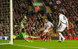 05.11.2011, Anfield Stadion, Liverpool, ENG, Premier League, FC Liverpool vs Swansea City, im Bild Liverpool's Dirk Kuyt 'scores' but the goal is disallowed // during the premier league match between FC Liverpool vs Swansea City at Anfield Stadium, Liverpool, EnG on 05/11/2011. EXPA Pictures © 2011, PhotoCredit: EXPA/ Propaganda Photo/ David Rawcliff +++++ ATTENTION - OUT OF ENGLAND/GBR+++++