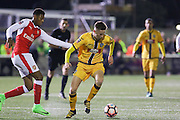 Sutton United's Adam May (12) during the The FA Cup match between Sutton United and Arsenal at Gander Green Lane, Sutton, United Kingdom on 20 February 2017. Photo by Phil Duncan.