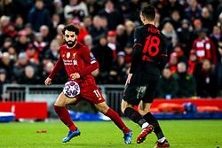 Mohamed Salah of Liverpool takes on Felipe of Atletico Madrid - Mandatory by-line: Robbie Stephenson/JMP - 11/03/2020 - FOOTBALL - Anfield - Liverpool, England - Liverpool v Atletico Madrid - UEFA Champions League Round of 16, 2nd Leg