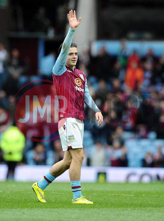 Aston Villa's Jack Grealish  - Photo mandatory by-line: Joe Meredith/JMP - Mobile: 07966 386802 - 09/05/2015 - SPORT - Football - Birmingham - Villa Park - Aston Villa v West Ham United - Barclays Premier League