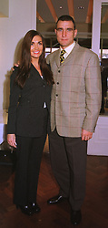 MR & MRS VINNIE JONES, he is the footballer, at a luncheon in London on 17th November 1998.MMA 45