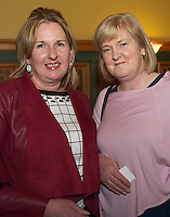 Anne O&rsquo;Hara Kinvara and Eileen Nestor Gort<br />  at the Cookery demonstration with Chef Neven Maguire and Artisan Food Fair in aid of Seamount College  at the Lady Gregory Hotel Gort, Co. Galway.<br /> Photo:Andrew Downes, xposure.