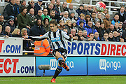 Newcastle United defender Daryl Janmaat  during the Barclays Premier League match between Newcastle United and Norwich City at St. James's Park, Newcastle, England on 18 October 2015. Photo by Simon Davies.