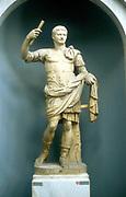 Augustus Caesar (Gaius Julius Caesar Octavianus, 63 BC-14 AD) First Roman Emperor from 27BC. Marble statue.