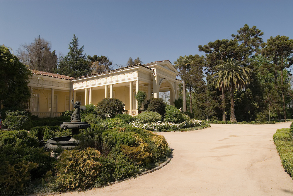 Chile Wine Country: Historic manor house at Concha y Toro Winery, Vina Concha y Toro, in Santiago..Photo #: ch457-33782..Photo copyright Lee Foster, 510-549-2202, www.fostertravel.com, lee@fostertravel.com.