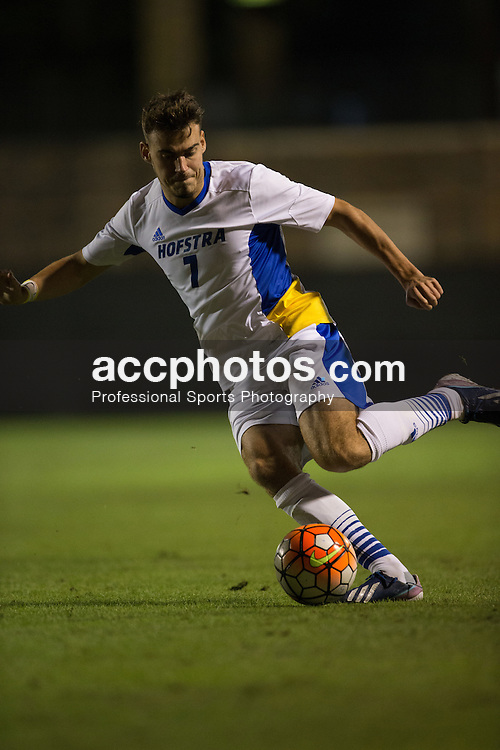 2015 October 05: Rory Murphy #7 of the Hofstra Pride during a 3-2 overtime loss to the Duke Blue Devils at Koskinen Stadium in Durham, NC.