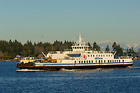 BC Ferries MV Quinsam car ferry between Gabriola Island and Nanimo British Columbia Canada