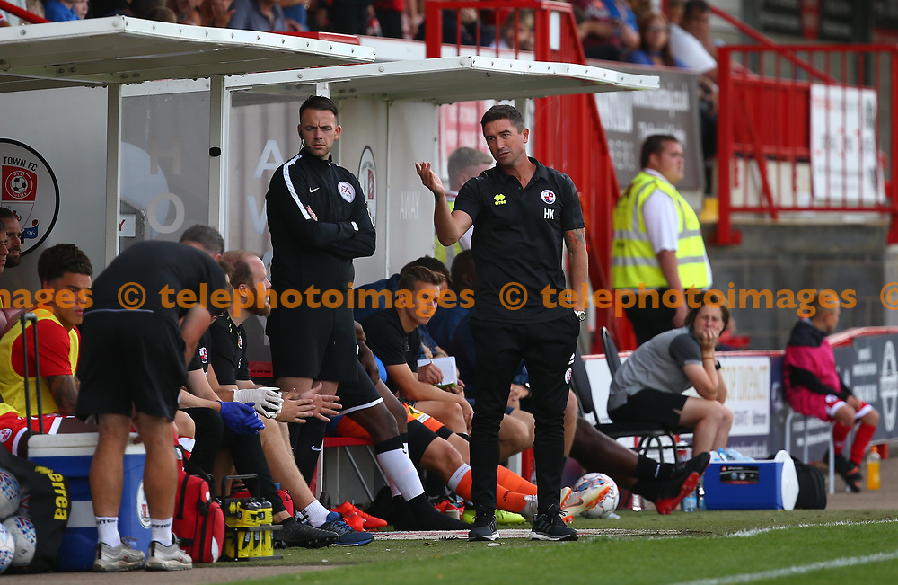 Crawley Town's head coach Harry Kewell during the pre season friendly between Crawley Town and KSV Roeselare at The Broadfield Stadium, Crawley , UK. 28 July 2018.
