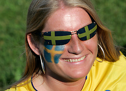 Fan of Sweden before the UEFA EURO 2008 Group D soccer match between Sweden and Russia at Stadion Tivoli NEU, on June 18,2008, in Innsbruck, Austria. Russia won 2:0. (Photo by Vid Ponikvar / Sportal Images)