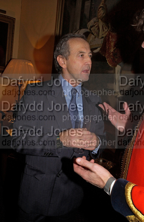 Dan Topolski, Reception to support the Hyde Park Appeal for Liberty Drives ( a charity which enables people to travel around Hyde Park in electric buggies) in the presence of Prince Michael of Kent. Officers Mess. Household Cavalry Mounted Regiment. Hyde Park Barracks. 30 November 2004. ONE TIME USE ONLY - DO NOT ARCHIVE  © Copyright Photograph by Dafydd Jones 66 Stockwell Park Rd. London SW9 0DA Tel 020 7733 0108 www.dafjones.com