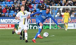 Joe Ward of Peterborough United in action against Jamie Allen of Burton Albion - Mandatory by-line: Joe Dent/JMP - 04/05/2019 - FOOTBALL - ABAX Stadium - Peterborough, England - Peterborough United v Burton Albion - Sky Bet League One