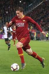 May 12, 2019 - Rome, Lazio, Italy - Roma, Lazio, Italy, 12-05-19, Italian football match between As Roma - Juventus at the Olimpico Stadium in picture Nicolo Zaniolo striker of As Roma , the final score is  0-2 for As Roma  (Credit Image: © Antonio Balasco/Pacific Press via ZUMA Wire)