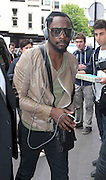 17.MAY.2011. PARIS<br /> <br /> WILL.I.AM FROM THE BLACK EYED PEAS OUT AND ABOUT IN PARIS, FRANCE.<br /> <br /> BYLINE: EDBIMAGEARCHIVE.COM<br /> <br /> *THIS IMAGE IS STRICTLY FOR UK NEWSPAPERS AND MAGAZINES ONLY*<br /> *FOR WORLD WIDE SALES AND WEB USE PLEASE CONTACT EDBIMAGEARCHIVE - 0208 954 5968*