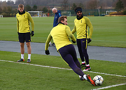March 6, 2018 - Enfield, England, United Kingdom - Tottenham Hotspur's Harry Kane.during a Tottenham Hotspur training session ahead of the UEFA Champions League Round of 16 match against Juventus  at Tottenham Hotspur Training centre on 06 March, 2018 in Enfield, England. (Credit Image: © Kieran Galvin/NurPhoto via ZUMA Press)